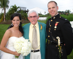 My father, Charlie; pictured between my son, Andrew; and his new wife, Lauren; on their wedding day! Semper Fi!!!